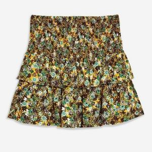 Floral mustard yellow ditsy skirt sz 8 NWT